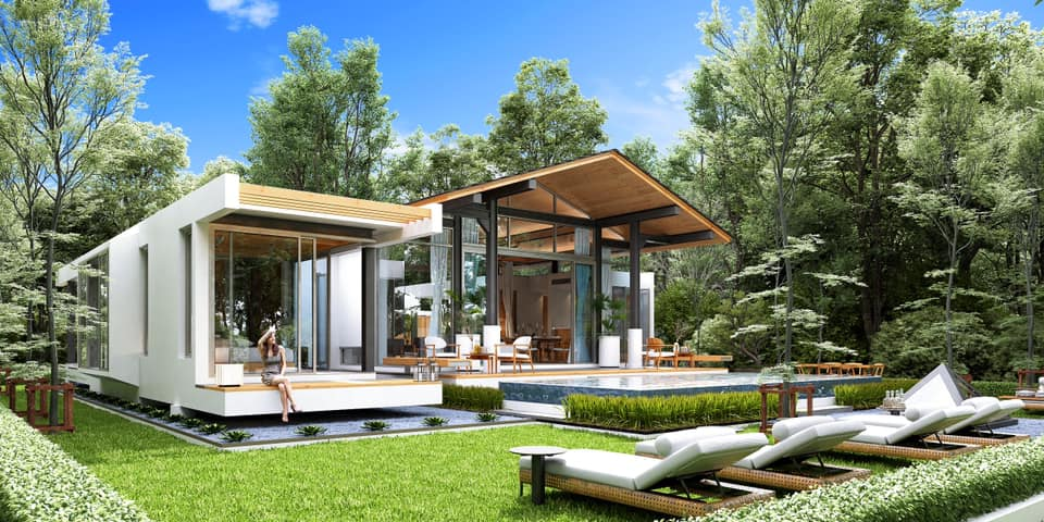 Nature surrounding 3 bed modern pool villa.